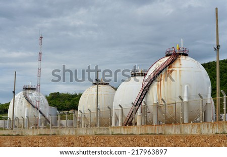 gas or fuel in the re storage - stock photo