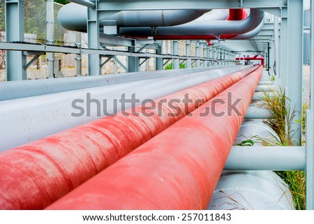 Gas Pipe line - stock photo