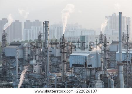 Gas Plant - stock photo