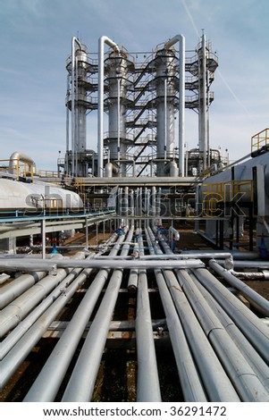 gas-processing industry - stock photo