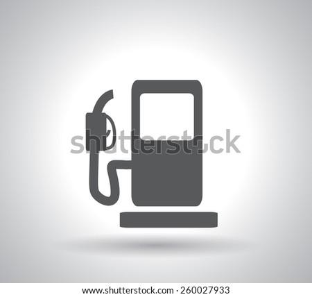 gas pump icon - stock photo