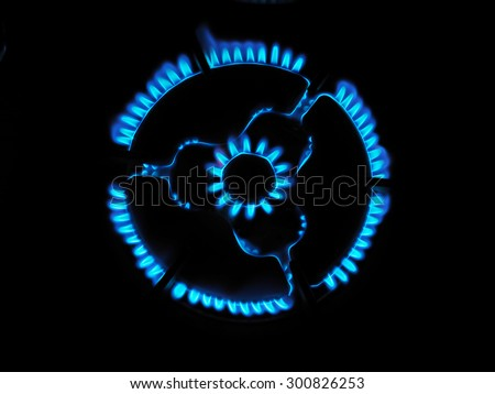 gas ring stove - stock photo