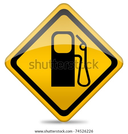 Gas station icon - stock photo