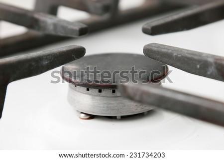 Gas stove  - stock photo