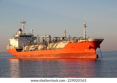 gas tanker - stock photo