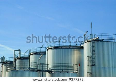 Gas Tanks - stock photo