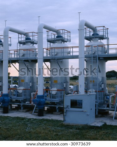 Gas transmission system. - stock photo
