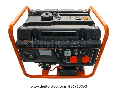 Gasoline electric generator - stock photo
