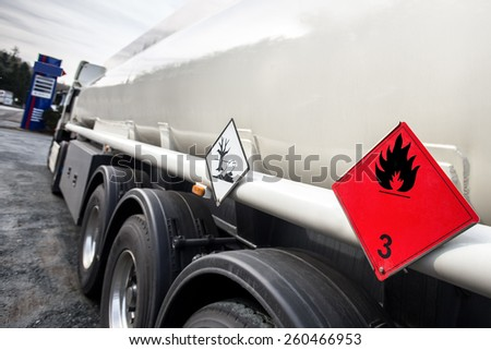 gasoline transporter - stock photo