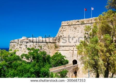 Gate and bridge of Kyrenia Castle. Cyprus. - stock photo