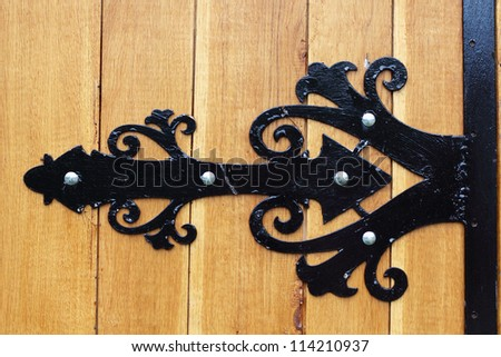 Gate decoration detail - stock photo