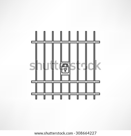 gate icon - stock photo