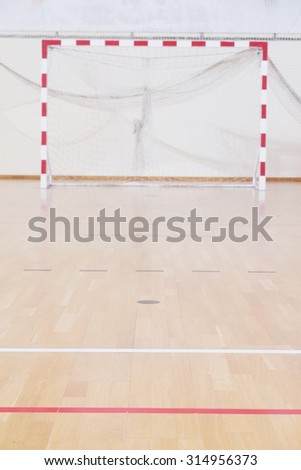 gate in the hall for handball - stock photo