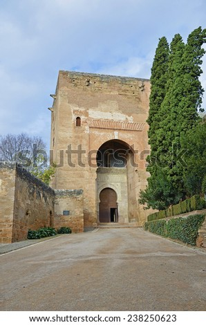 Gate of Justice, the alhambra  - stock photo