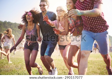 Gates are open! We can start dancing! - stock photo