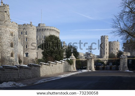 Gates in front of Windsor Castle. - stock photo