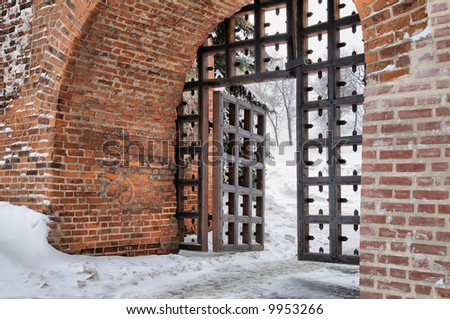 Gates of the ancient Kremlin - stock photo