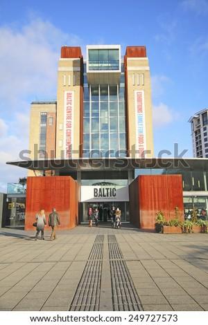 GATESHEAD, ENGLAND - FEBRUARY 1, 2015: The Baltic Centre for Contemporary Art is an international centre for contemporary art on the south bank of the River Tyne next to Gateshead Millennium Bridge - stock photo