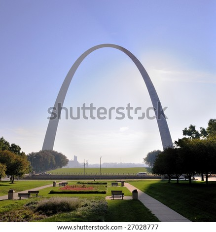 Gateway Arch in St. Louis, Missouri - stock photo