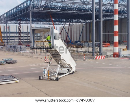 Gateway at Airport - stock photo
