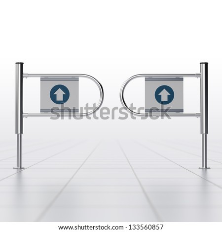 gateway in a mall or mart - stock photo
