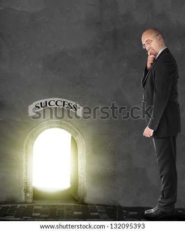 Gateway to success - stock photo
