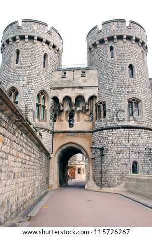 Gateway to Windsor Castle - stock photo
