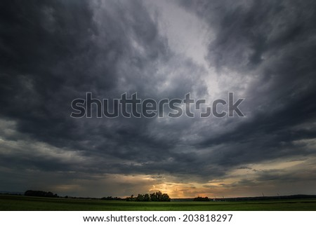 Gathering Thunderstorm - stock photo