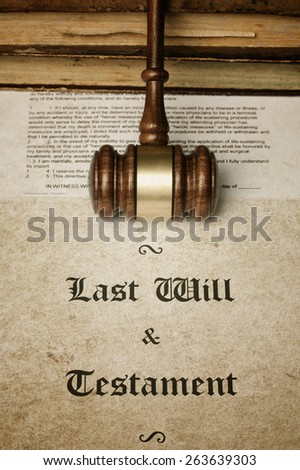 Gave and Last Will document - stock photo