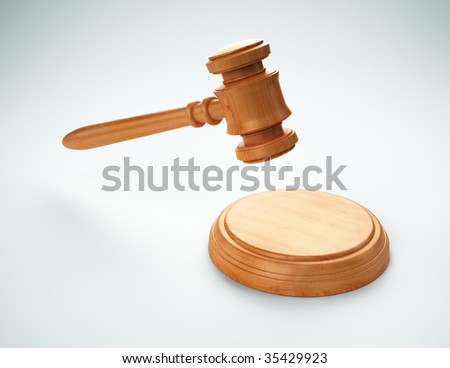 Gavel - auction bidding or justice concept image - stock photo