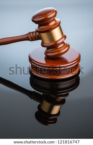 gavel (gavel) on white background. symbolic photo for justice - stock photo