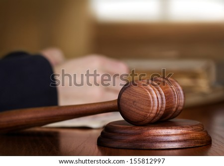 Gavel & judge  - stock photo