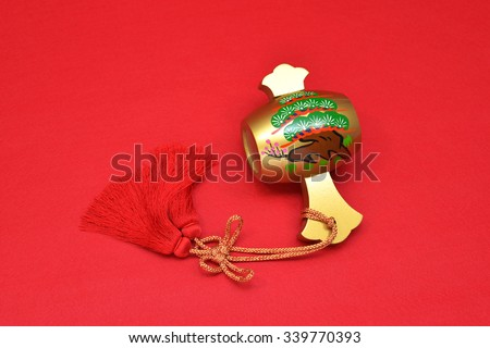 Gavel of magic/It has believed that item luck is good in Japan - stock photo