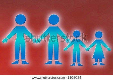gay family - stock photo