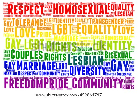 Gay word cloud concept - stock photo