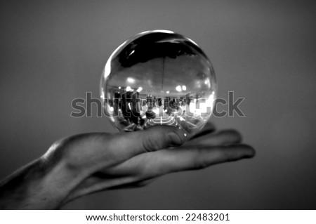 Gazing Ball - stock photo