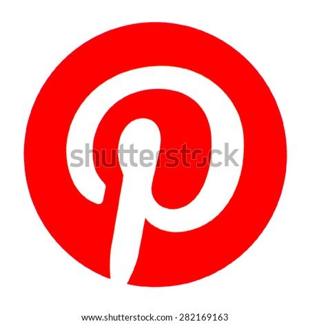 GDANSK, POLAND - MAY 28, 2015. Pinterest logo printed on paper. Pinterest is a web and mobile application company, which operates an eponymous photo sharing website - stock photo