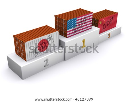 GDP rating - stock photo