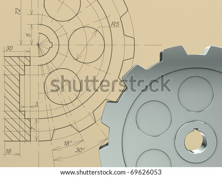 Gear concept - stock photo