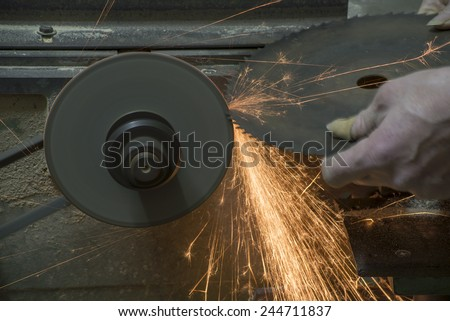 Gear friction fires spread - stock photo
