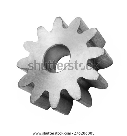 Gear isolated - stock photo