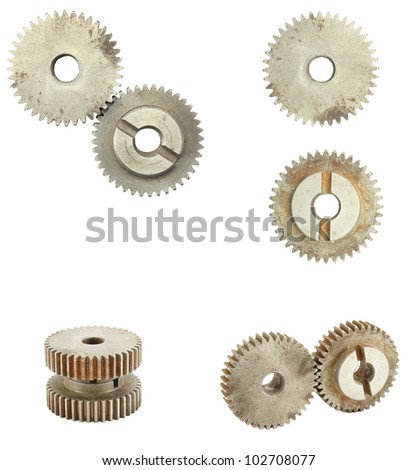 gear isolated on white background - stock photo