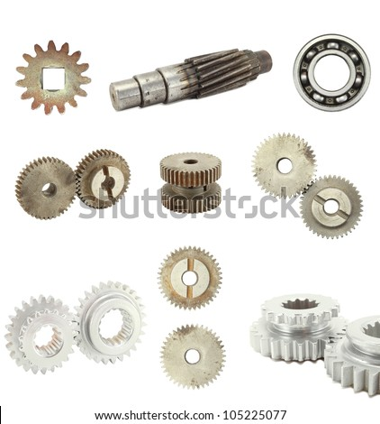 gear isolated white background. - stock photo