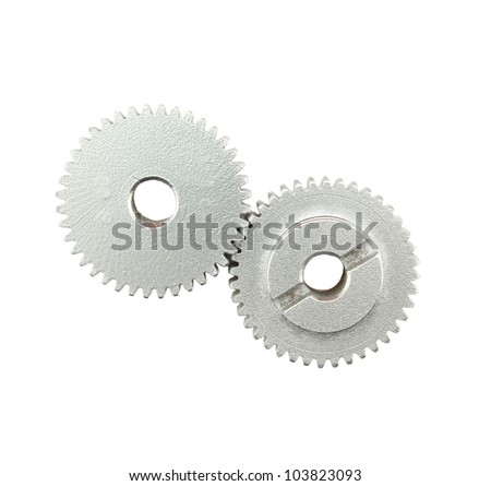 gear mechanism. - stock photo