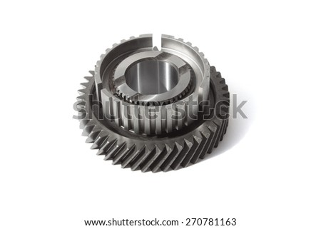 gear on a white background - stock photo