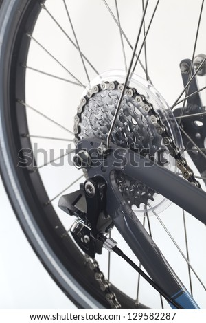 Gear on the wheel - stock photo
