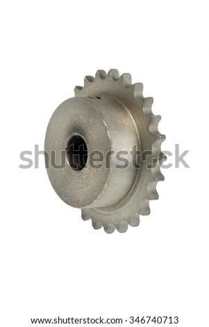 Gear on white background - stock photo
