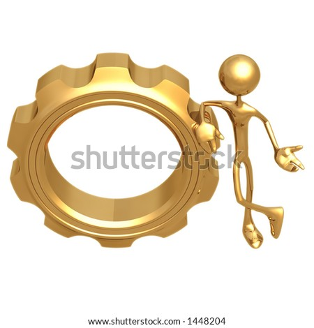 Gear Presenter - stock photo