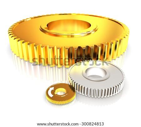 Gear wheels - stock photo