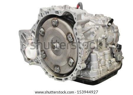 gearbox isolated under the white background - stock photo